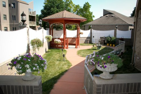 Outdoor area for community residents